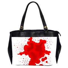 Red Blood Transparent Office Handbags (2 Sides)  by Mariart