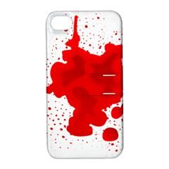 Red Blood Transparent Apple Iphone 4/4s Hardshell Case With Stand by Mariart
