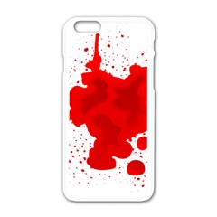 Red Blood Transparent Apple Iphone 6/6s White Enamel Case by Mariart