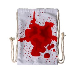 Red Blood Transparent Drawstring Bag (small) by Mariart