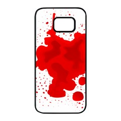 Red Blood Transparent Samsung Galaxy S7 Edge Black Seamless Case by Mariart