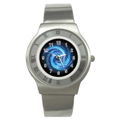 Hole Space Galaxy Star Planet Stainless Steel Watch by Mariart
