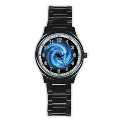 Hole Space Galaxy Star Planet Stainless Steel Round Watch by Mariart