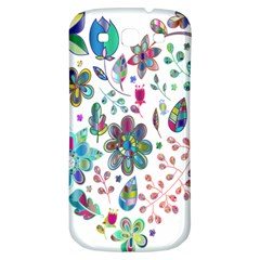 Prismatic Psychedelic Floral Heart Background Samsung Galaxy S3 S Iii Classic Hardshell Back Case by Mariart