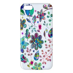 Prismatic Psychedelic Floral Heart Background Apple Iphone 5 Premium Hardshell Case by Mariart