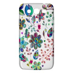 Prismatic Psychedelic Floral Heart Background Samsung Galaxy Mega 5 8 I9152 Hardshell Case  by Mariart