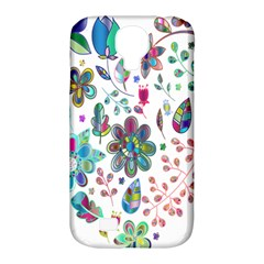 Prismatic Psychedelic Floral Heart Background Samsung Galaxy S4 Classic Hardshell Case (pc+silicone) by Mariart