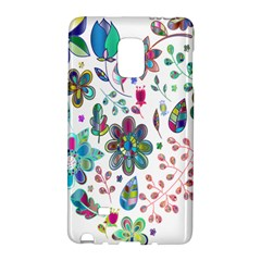 Prismatic Psychedelic Floral Heart Background Galaxy Note Edge by Mariart