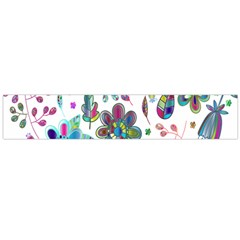 Prismatic Psychedelic Floral Heart Background Flano Scarf (large) by Mariart