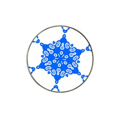 Snowflake Art Blue Cool Polka Dots Hat Clip Ball Marker (10 Pack)
