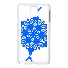 Snowflake Art Blue Cool Polka Dots Samsung Galaxy Note 3 N9005 Case (white) by Mariart