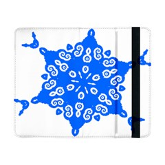 Snowflake Art Blue Cool Polka Dots Samsung Galaxy Tab Pro 8 4  Flip Case by Mariart