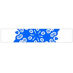 Snowflake Art Blue Cool Polka Dots Flano Scarf (large) by Mariart