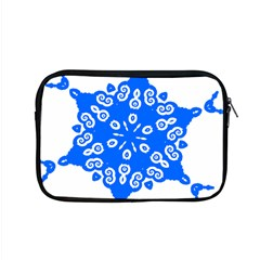 Snowflake Art Blue Cool Polka Dots Apple Macbook Pro 15  Zipper Case by Mariart