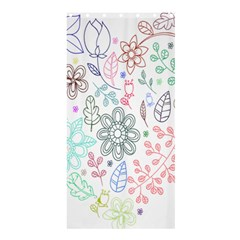 Prismatic Neon Floral Heart Love Valentine Flourish Rainbow Shower Curtain 36  X 72  (stall)  by Mariart