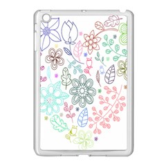 Prismatic Neon Floral Heart Love Valentine Flourish Rainbow Apple Ipad Mini Case (white) by Mariart