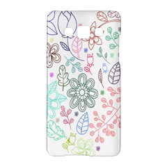 Prismatic Neon Floral Heart Love Valentine Flourish Rainbow Samsung Galaxy A5 Hardshell Case  by Mariart