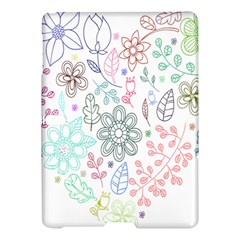 Prismatic Neon Floral Heart Love Valentine Flourish Rainbow Samsung Galaxy Tab S (10 5 ) Hardshell Case  by Mariart