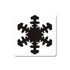 Snowflakes Black Square Magnet by Mariart