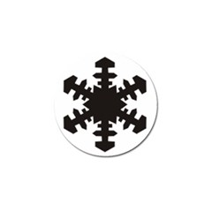 Snowflakes Black Golf Ball Marker (4 Pack) by Mariart