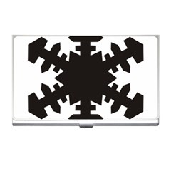 Snowflakes Black Business Card Holders by Mariart