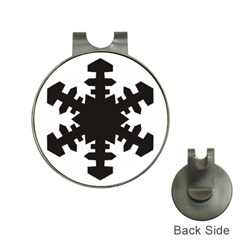 Snowflakes Black Hat Clips With Golf Markers by Mariart