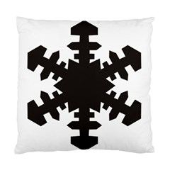 Snowflakes Black Standard Cushion Case (one Side) by Mariart