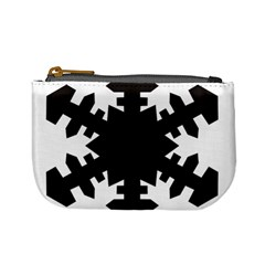 Snowflakes Black Mini Coin Purses by Mariart
