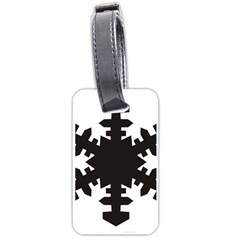 Snowflakes Black Luggage Tags (two Sides) by Mariart