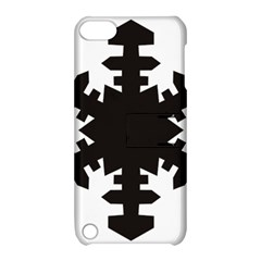 Snowflakes Black Apple Ipod Touch 5 Hardshell Case With Stand by Mariart