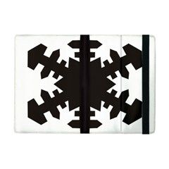 Snowflakes Black Ipad Mini 2 Flip Cases by Mariart