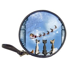 Christmas, Cute Cats Looking In The Sky To Santa Claus Classic 20 Cd Wallets by FantasyWorld7