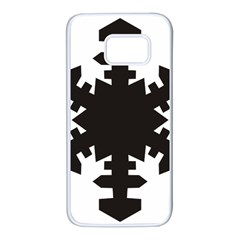 Snowflakes Black Samsung Galaxy S7 White Seamless Case