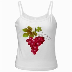 Red Fruit Grape White Spaghetti Tank by Mariart