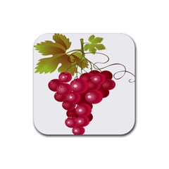 Red Fruit Grape Rubber Coaster (square)