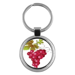 Red Fruit Grape Key Chains (round)  by Mariart