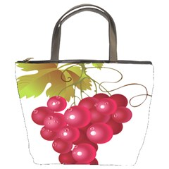 Red Fruit Grape Bucket Bags by Mariart