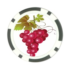 Red Fruit Grape Poker Chip Card Guard (10 Pack) by Mariart