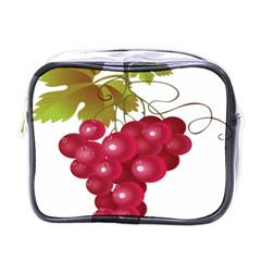 Red Fruit Grape Mini Toiletries Bags by Mariart