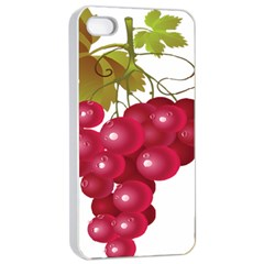 Red Fruit Grape Apple Iphone 4/4s Seamless Case (white) by Mariart