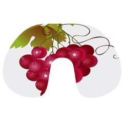 Red Fruit Grape Travel Neck Pillows