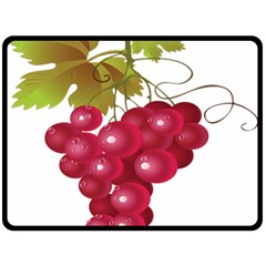 Red Fruit Grape Double Sided Fleece Blanket (large)  by Mariart
