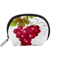 Red Fruit Grape Accessory Pouches (small)  by Mariart