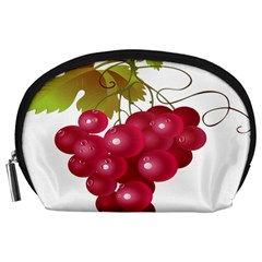 Red Fruit Grape Accessory Pouches (large)  by Mariart