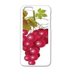 Red Fruit Grape Apple Iphone 6/6s White Enamel Case by Mariart