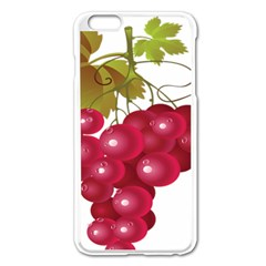 Red Fruit Grape Apple Iphone 6 Plus/6s Plus Enamel White Case by Mariart