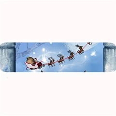 Christmas, Cute Cats Looking In The Sky To Santa Claus Large Bar Mats by FantasyWorld7