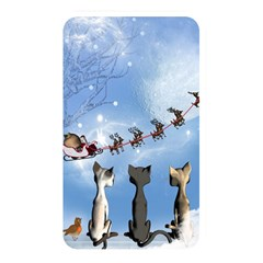Christmas, Cute Cats Looking In The Sky To Santa Claus Memory Card Reader by FantasyWorld7