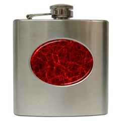 Simulation Red Water Waves Light Hip Flask (6 Oz) by Mariart