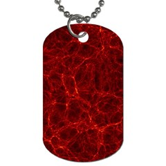 Simulation Red Water Waves Light Dog Tag (two Sides) by Mariart